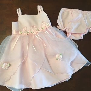 Beautiful 18 mo Baby/Toddler Dress & Diaper Cover